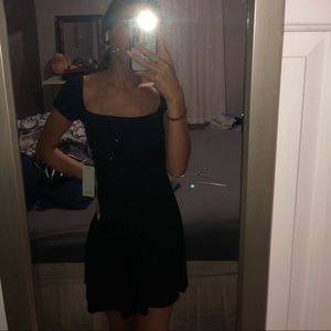 Scoop neck black dress